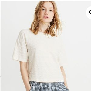 Madewell Cropped Scalloped Tee Sz XL